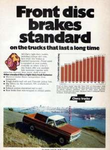 1972 Chevy Cheyenne Pickup Truck Original Color Ad