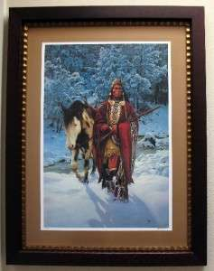 Chuck Ren WINTER OF 41 Native American art VERY RARE