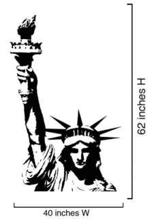 Vinyl Wall Art Decal Sticker Statue of Liberty 2