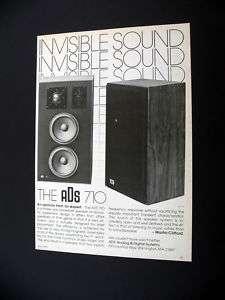 ADS 710 Bookshelf Speaker 1976 print Ad