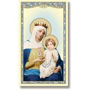 Mysteries of the Rosary Holy Prayer Card New Design Fully