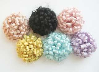 Satin silk flower for corsage,shoes,accessory,deco,etc