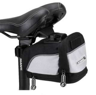 New Cycling Bicycle Bike Saddle Pouch Seat Bag Silver