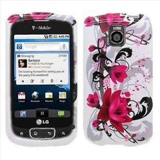 Pink Flower Hard Case Cover for LG Optimus T P509 Phone