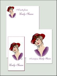 Red Hat Themed Stationery Set The perfect gift for the Society Lady