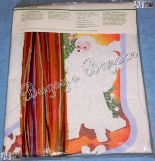 Sunset FATHER CHRISTMAS Santa Crewel Stocking Kit