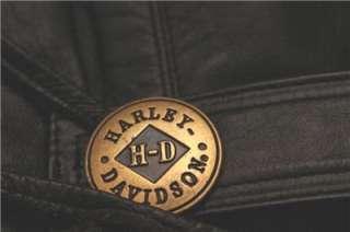 Harley Davidson Leather Vest Vtg Heritage Belted MINT Large