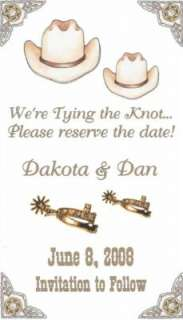 Country Western Save the Date Wedding Magnets, Horses