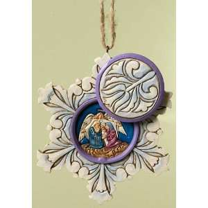 Jim Shore Heartwood Creek Nativity Hidden Scene in Snowflake Hanging