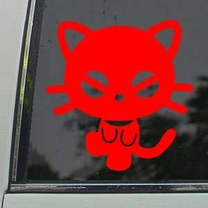Chococat Red Decal Sanrio Hello Kitty Window Red Sticker
