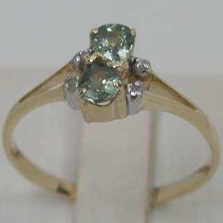 62 CTS 14K SOLID YELLOW GOLD NATURAL GREEN SAPPHIRE CLUSTER BAND