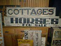 Primitive Wooden Country Sign Horses For Sale Farm