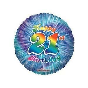 18 Foil Balloon Happy 21st Birthday 1 Ct Toys Games