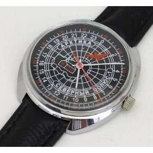 Russian Mechanical watch 24 hr dial #0451 ARCTIC, NP 1