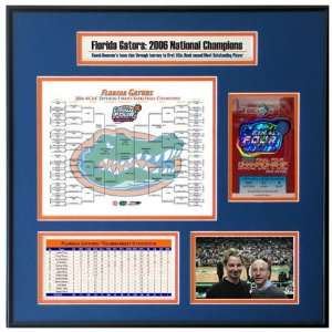 UCLA Bruins vs. Florida Gators 2006 Final Four Ticket Frame Sports