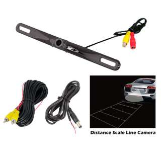 License Plate Mount Rearview Backup Camera Distance Scale Line