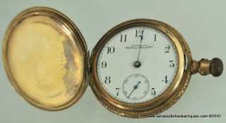 Waltham Pocket Watch 16s Gold Filled Hunters Case for Repair 5451