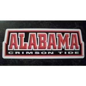 Alabama Crimson Tide Team Name NCAA Car Magnet  Sports