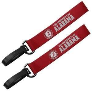 NCAA Alabama Crimson Tide Crimson 2 Pack Luggage ID Tags