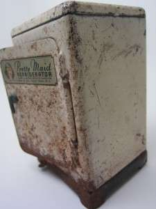 Marx vintage PRETTY MAID toy Refrigerator 1930s Steel