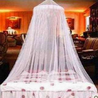Elegant Lace Bed Canopy Mosquito Net White New