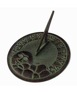 Green/ Brown Patina Aluminum Sundial  Overstock