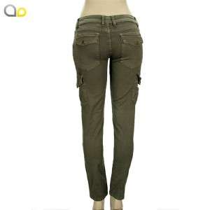 ARMY green CARGO SKINNY JEANS pants NEW S 1 3