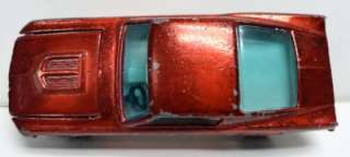 1968 Hot Wheels Redlines Custom Mustang Red HK + Button