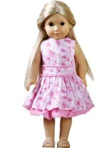 2PC Doll clothes pink outfit for 18 american girl  J9M