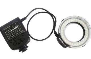 Macro Ring Flash LED Light for Canon 550D 50D 5DII DSLR / Sony +3 in 1