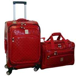 Jenni Chan Bows 2 piece Carry on Spinner Luggage Set