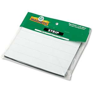 Magna Visual Magnetic Write On/Wipe Off Pre Cut Strips 6 x 7/8, White