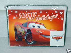 NIB Disney Pixar Cars Lightning McQueen Christmas cards