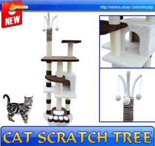 New Kitty Cat Scratcher 68 Height Cat Tree Post Condo Tower Toy Pet