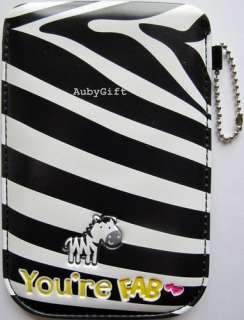 Phone iPhone Mobile Cell Phone iPod Pouch / Case / Bag   Zebra Black