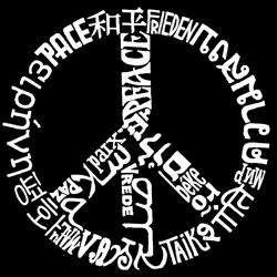 Los Angeles Pop Art Girls Peace Symbol T shirt