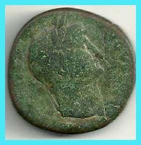 ANCIENT ROME  HADRIANUS ???   SESTERTIUS COIN .