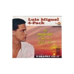 PISTAS DE CANTAR KARAOKELUIS MIGUEL 4 CDS Music