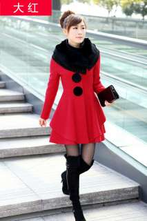 2012 NEW Women Fashion Cute Sweet Gothic Nana Long Lace Wool blended