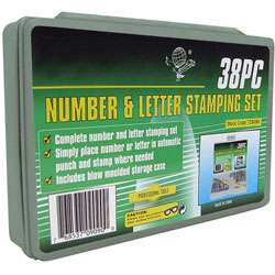 Deluxe Number and Letter 38 piece Stamping Set