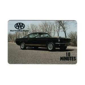 Collectible Phone Card 10m Mustang (Black) Automobile AAA