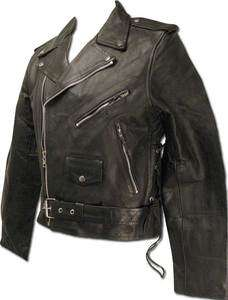 BIKESTAR Mens Genuine Black Leather Motorcycle Street Jacket in size