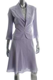 FAMOUS CATALOG Moda Skirt Suit Purple Silk Misses 10