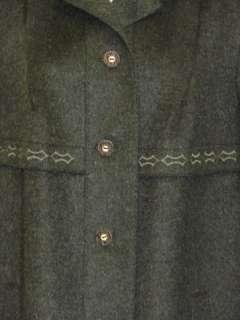 WOOL + MOHAIR Long Women German Winter Over COAT Jacket 14 L