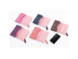 iphone3 4s galaxy slim case cover card slots wallet bag