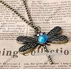 Fashion Vintage Red Love Heart Wing long Necklace