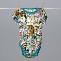 Ed Hardy Infant Girls Koi Fish Bodysuit