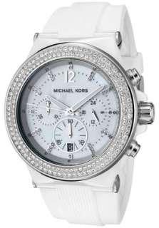 Michael Kors Watch MK5392 Womens Chronograph White Crystal White