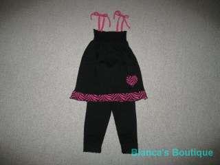 NEW ZEBRA LOVE Leggings Capri Girls Summer Clothes 3T