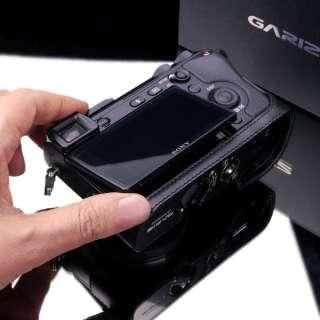 New leather camera half case for Sony NEX 7 E body   Black